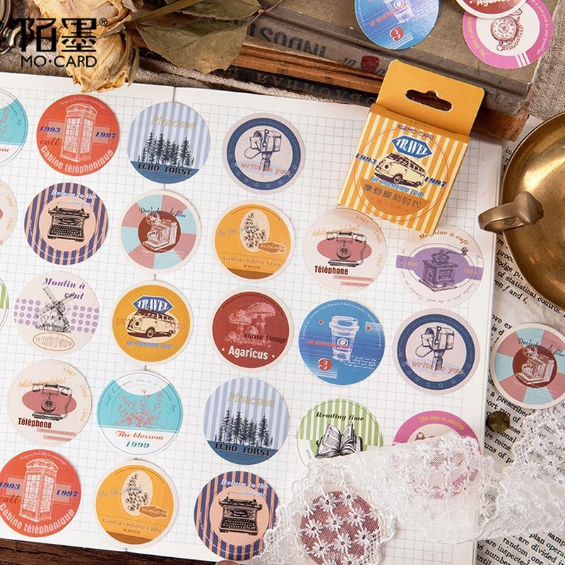Vintage Travels Sticker Set