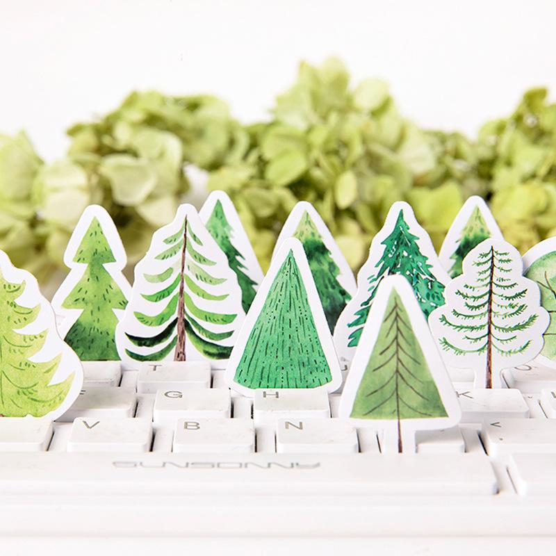 Green Forest Sticker Set