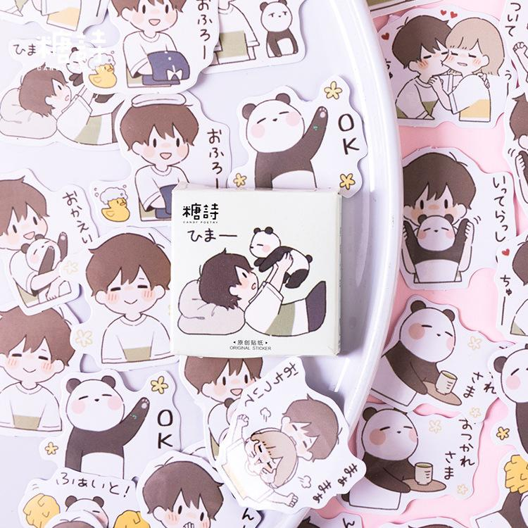 A Panda's Best Friend Sticker Set