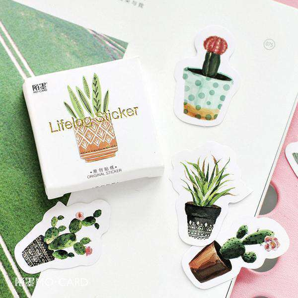 Cute Cactus Sticker Set