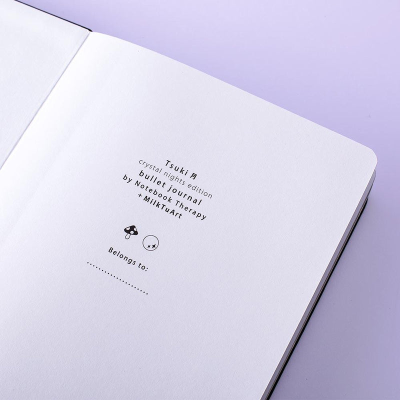 Tsuki 'Crystal Nights' Limited Edition Luxury Bullet Journal ☾ @MilkTuArt Collab!