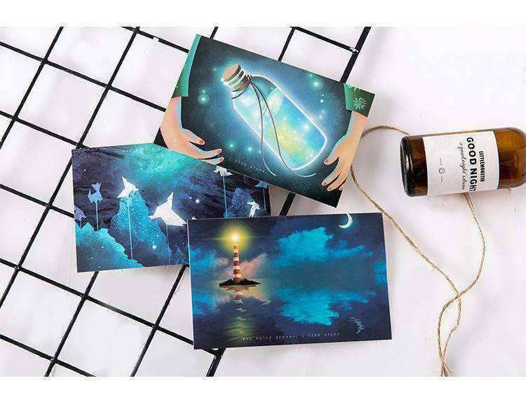 Looking For Light Luminous Greeting Cards