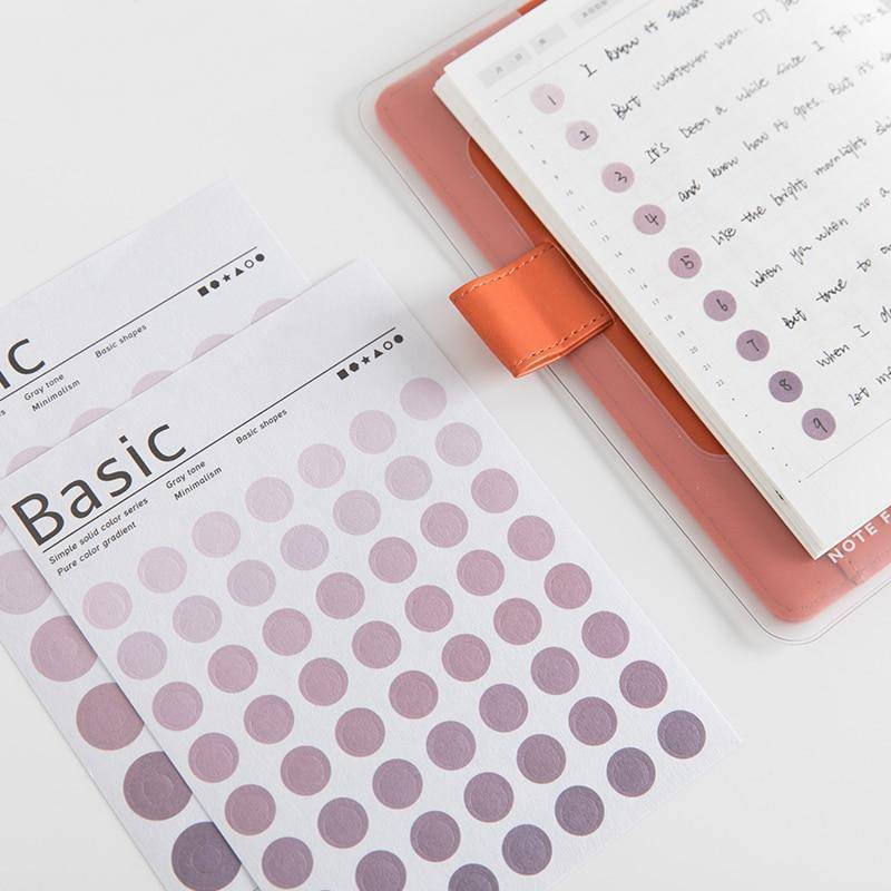 Colour Gradient Sticker Set