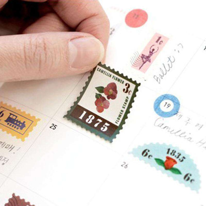 Midori Travel Journal Stamp Stickers - 6 sheets per set!
