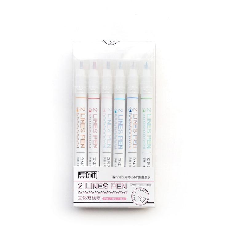 Double Lines Pen - Set of 6!