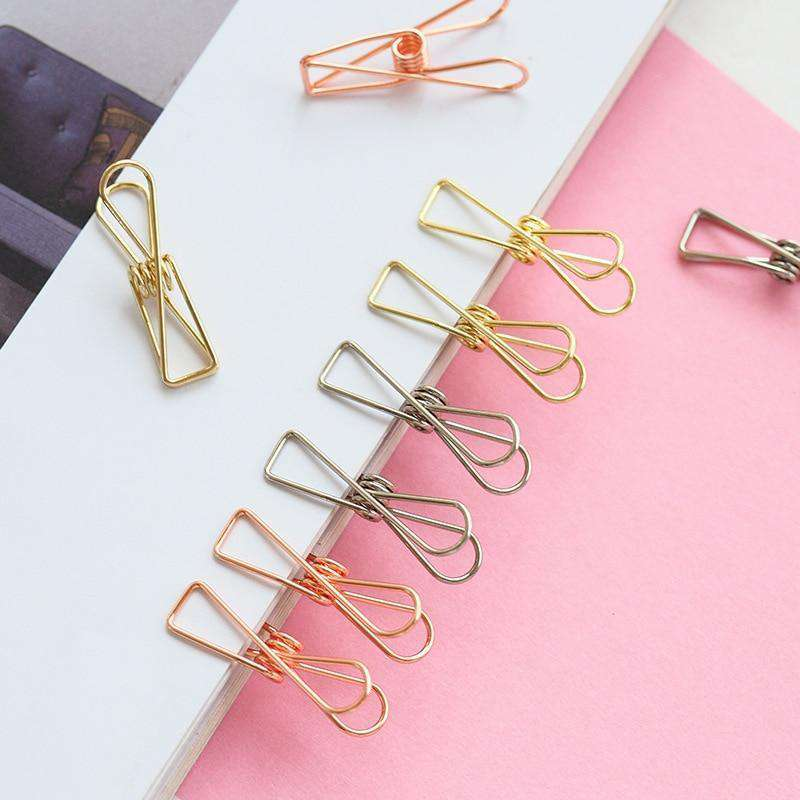 Metallic Paper Clips - Set of 6
