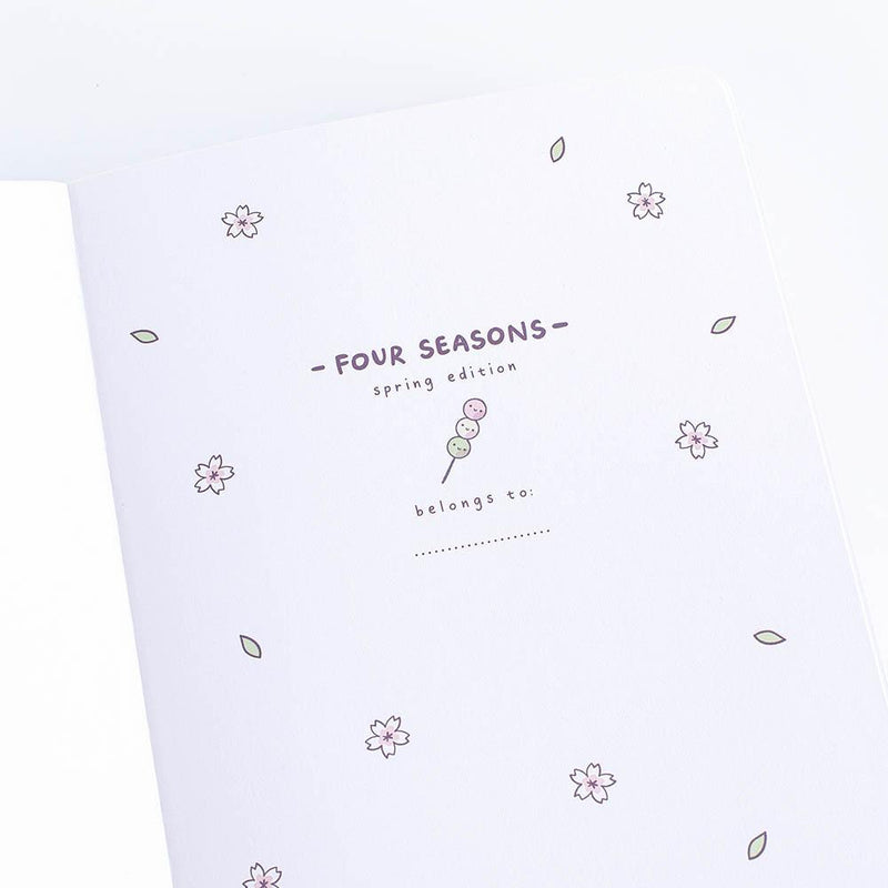 front cover of the four season spring edition bullet journal