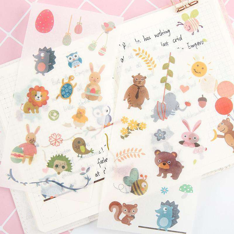 Furry Friends Sticker Set - Includes 6 Sheets!
