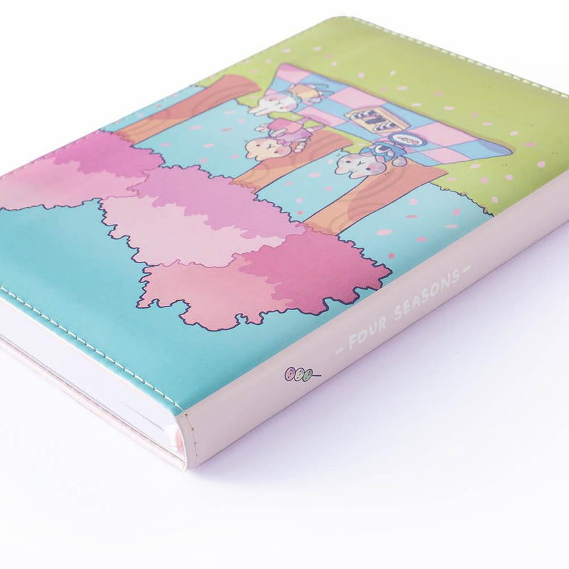the spine of spring notebook four season in collaboration with milkkoyo