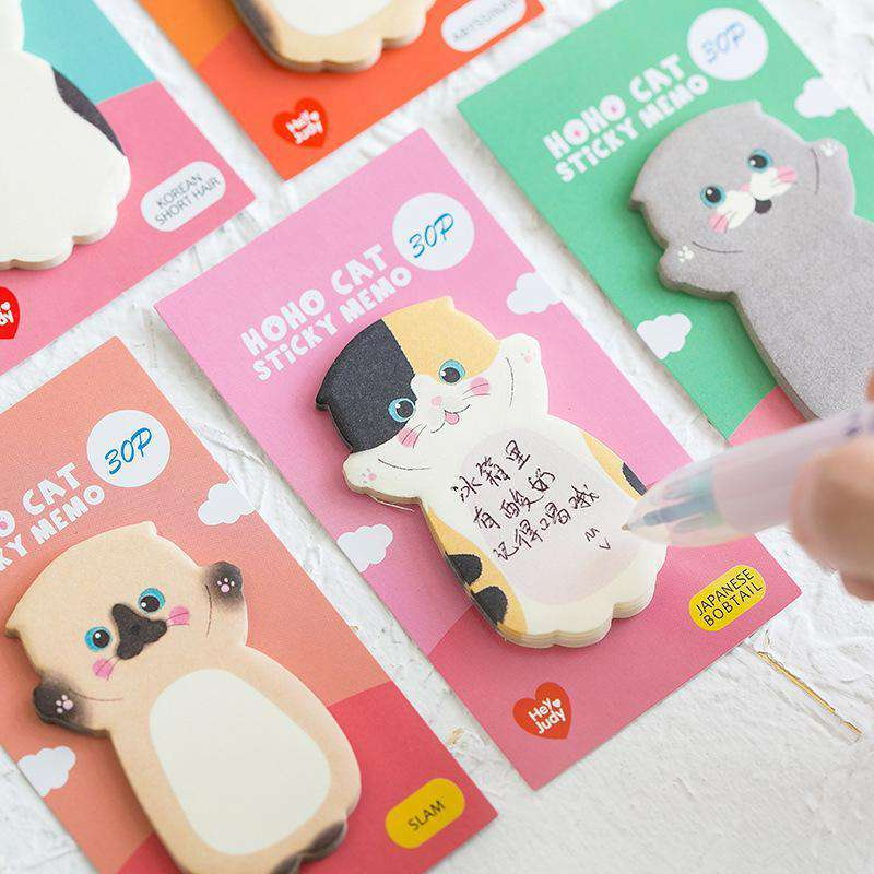 Happy Cat Memo Notes - Set of 8!