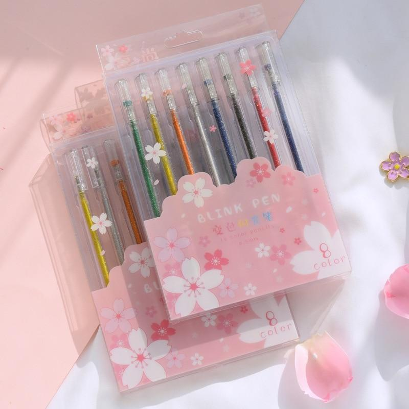 Glitter Super Gel Pens - Set of 8!