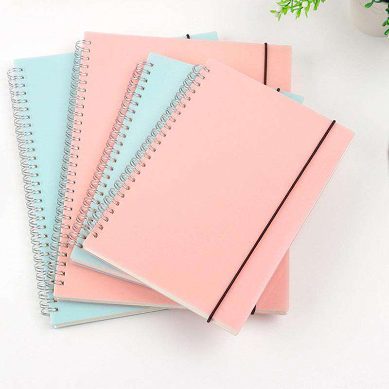 Blue Pink Dotted Notebooks All Page Types
