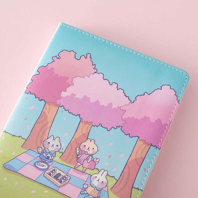 close up image of spring edition notebook in collaboration with milkkoyo