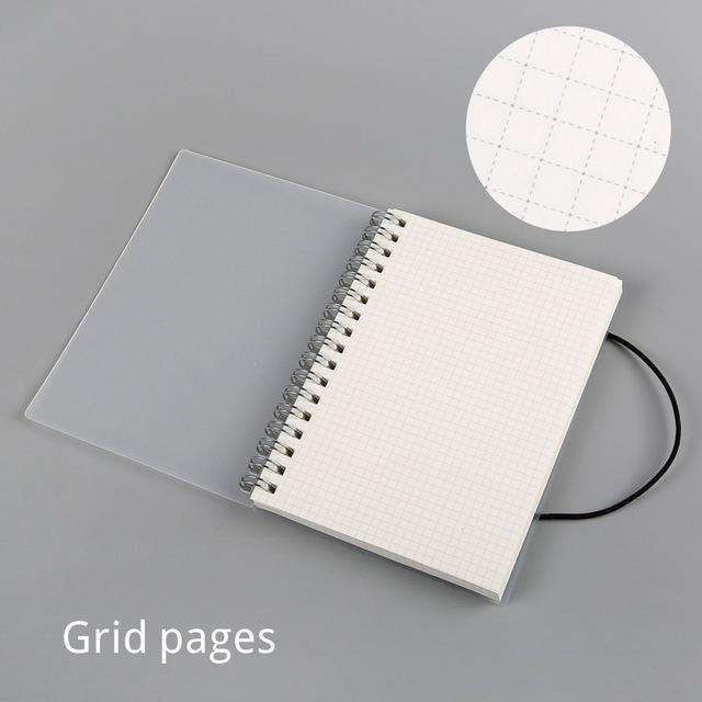 Clear Spiral Bound A5 + A6 Notebook - Dotted, Grid, Lined, To-Do, Diary & Blank Pages