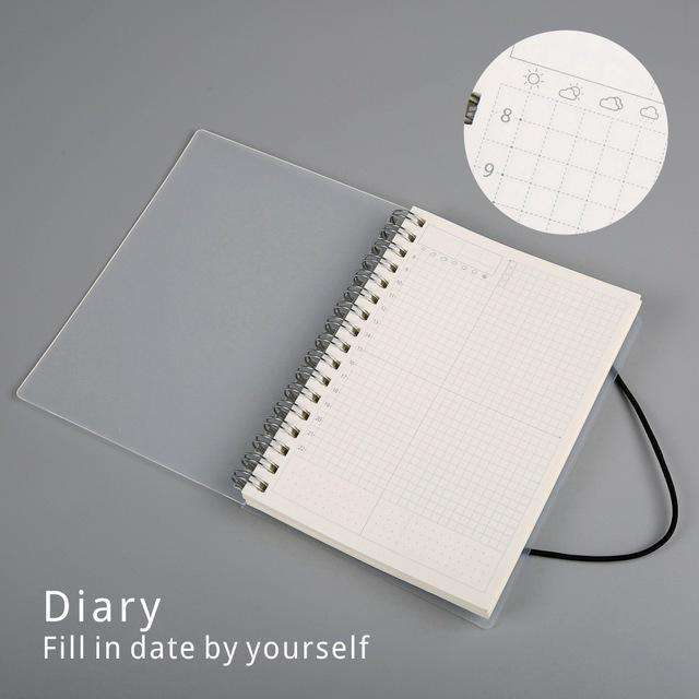 Bound Notebook With Graph Paper
