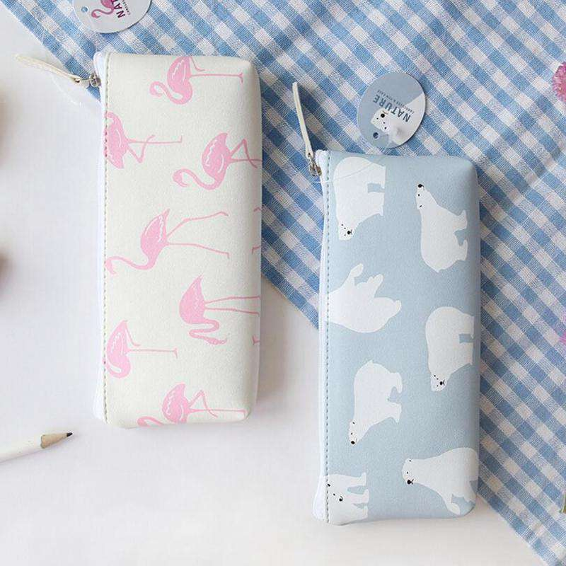 Animal Nature Leather Pencil Case