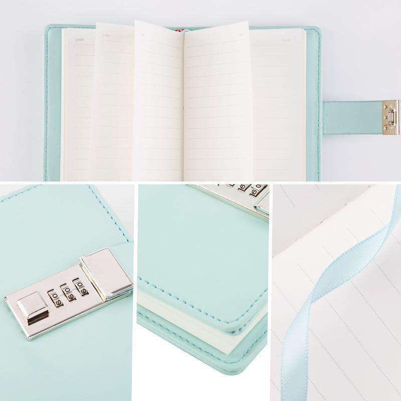 Mini A7 Kawaii Locked Journal - Lined Pages