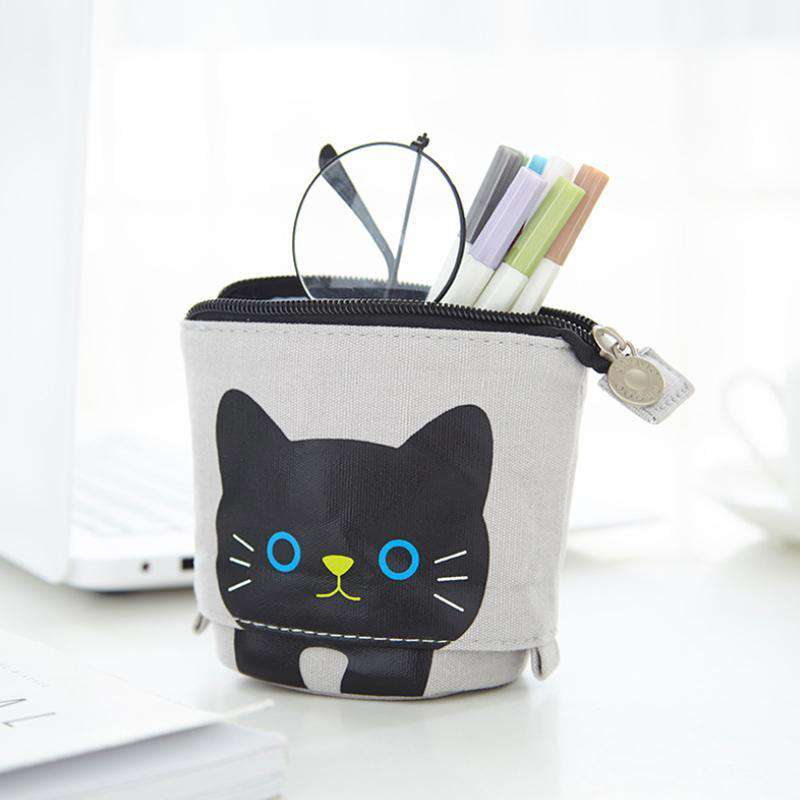Little Animal Stand-Up Pencil Case