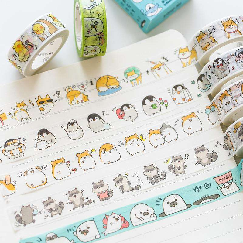 Kawaii Animals Washi Tape