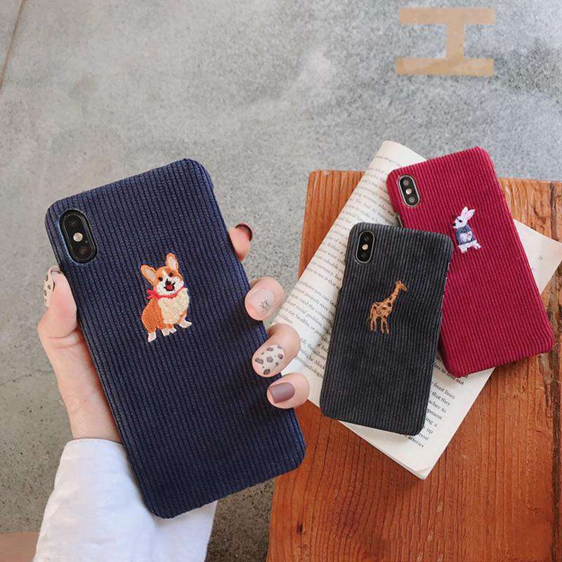 Cute Animals Cord iPhone Case