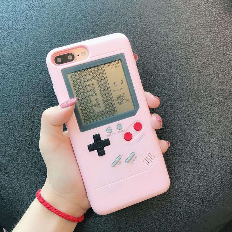 Pink Gameboy iPhone Case - 10 games included!