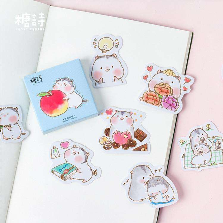 Baby Hamster Sticker Set