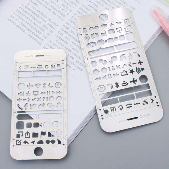 Metal Design Stencils + Ruler
