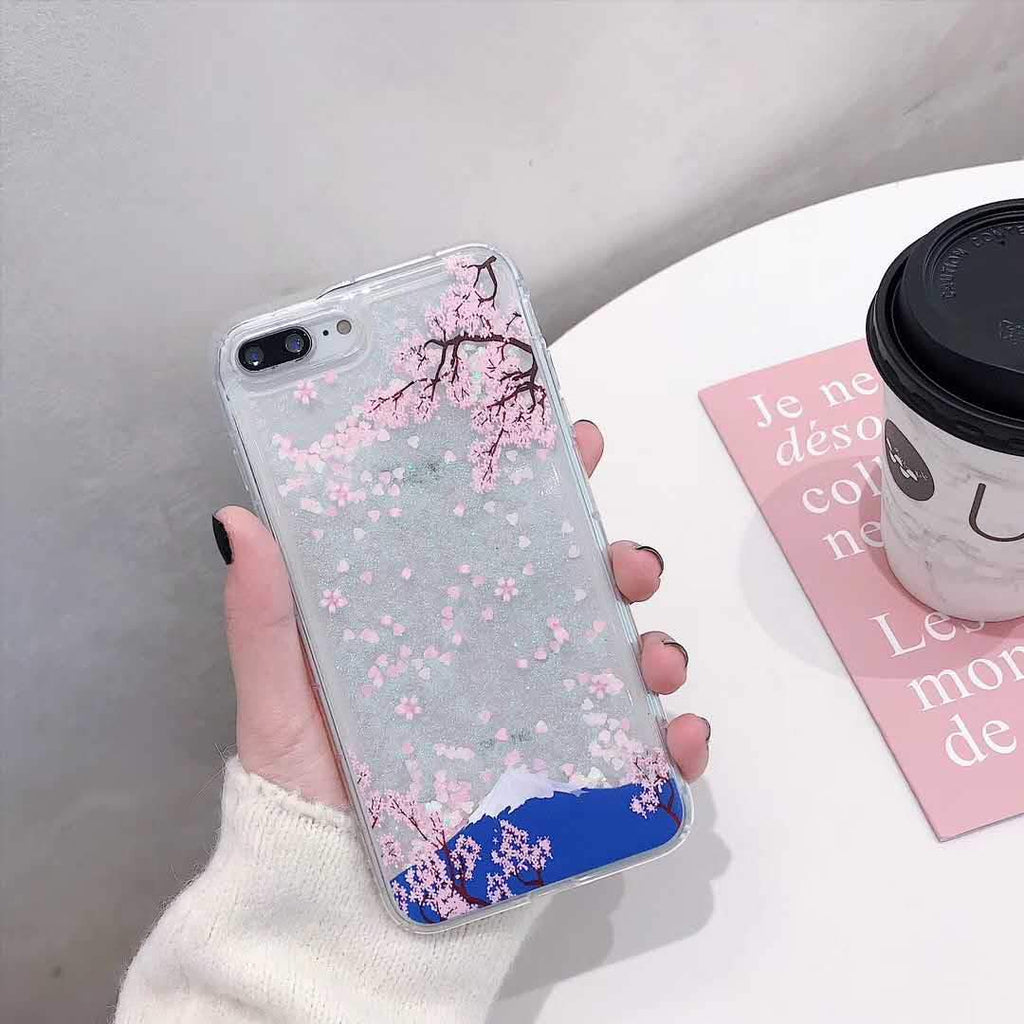 Mount Fuji + Sakura iPhone Case