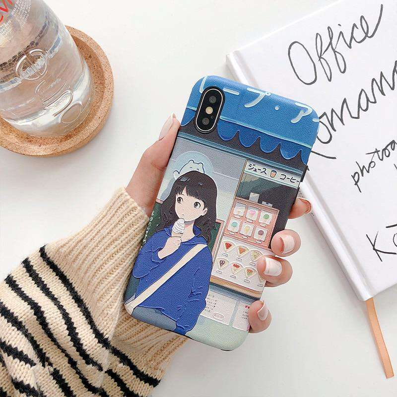 Kawaii Japanese Girls iPhone Case