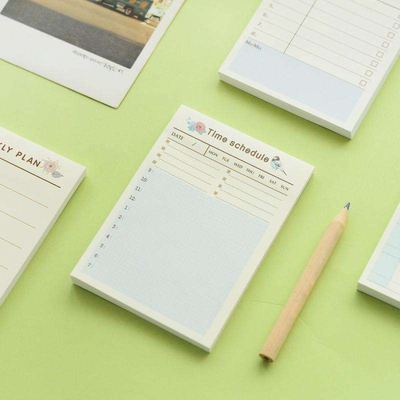 Weekly Monthly Planning Sticky Notes