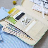 Check Pastels Stationery Case