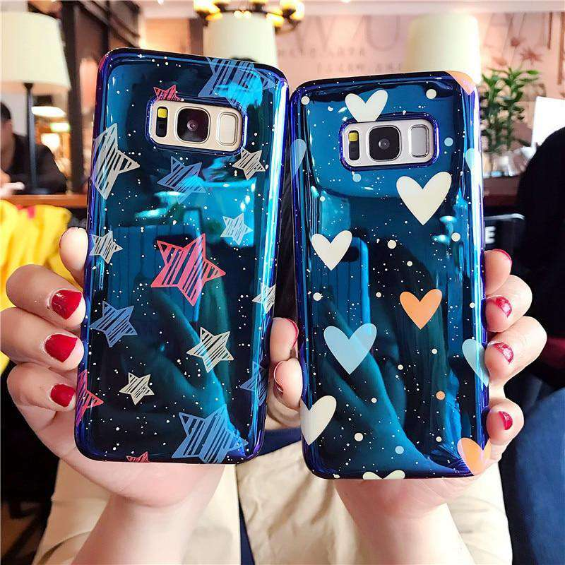Glossy Stars and Hearts Samsung Cases