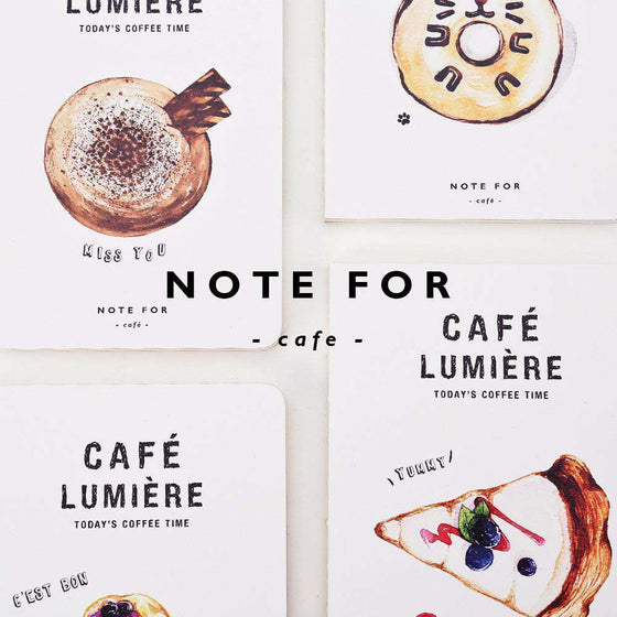 'NOTE FOR' Café Lumière Notebook
