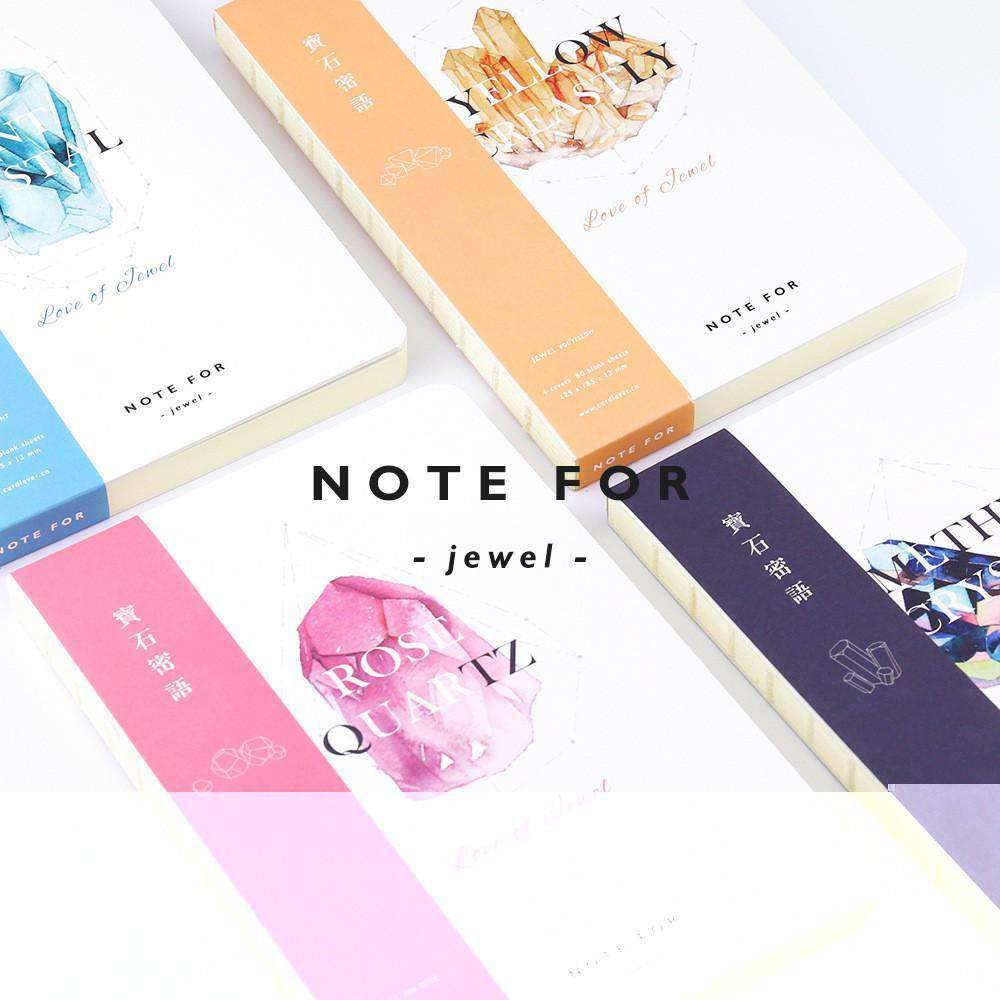 'NOTE FOR' Precious Jewel Notebook