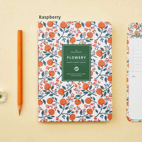 Floral Faux Leather Yearly Planner - A5 & A6