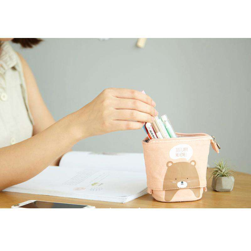Animal Companion Stand-up Pencil Case