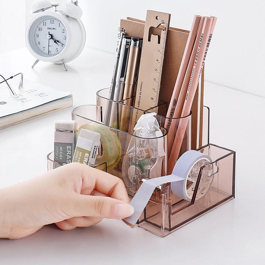 Aesthetic Desk Organiser + Tape Dispenser