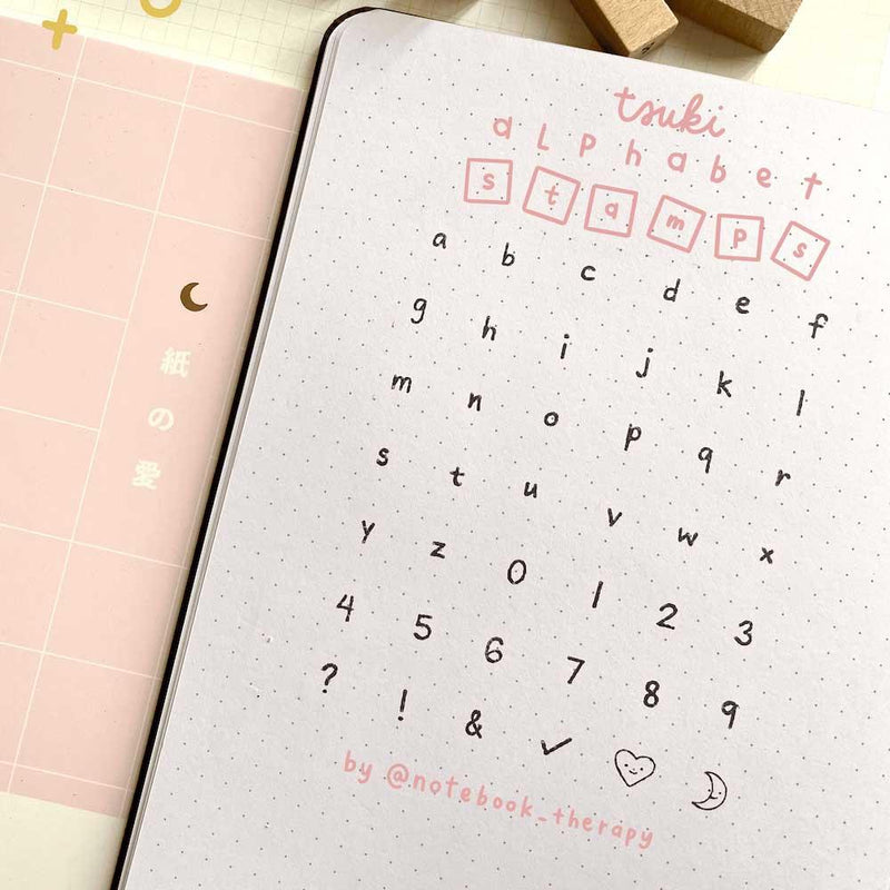Tsuki Bullet Journal Alphabet Stamp Set ☾