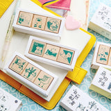 Kawaii Cat Vintage Stamp Sets