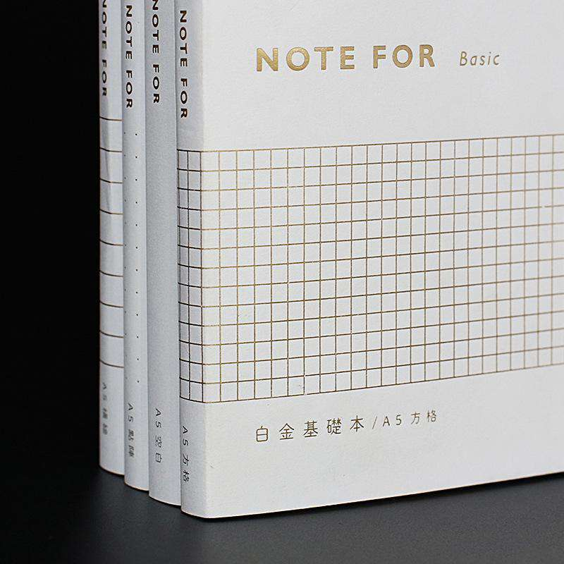 'Note For' Basic: Platinum Dotted A6 Notebook