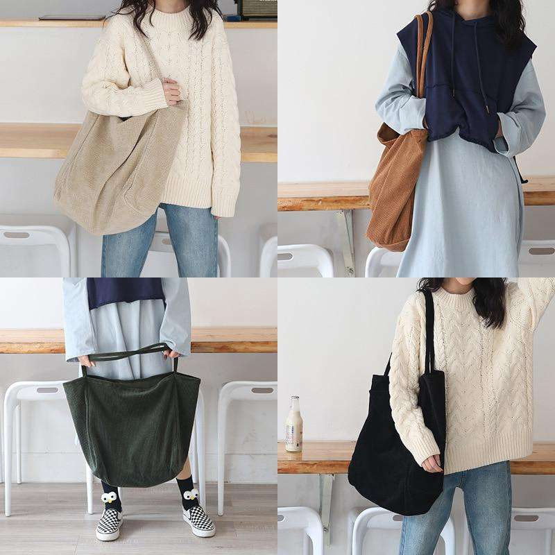 Large Cord Eco Tote Bag