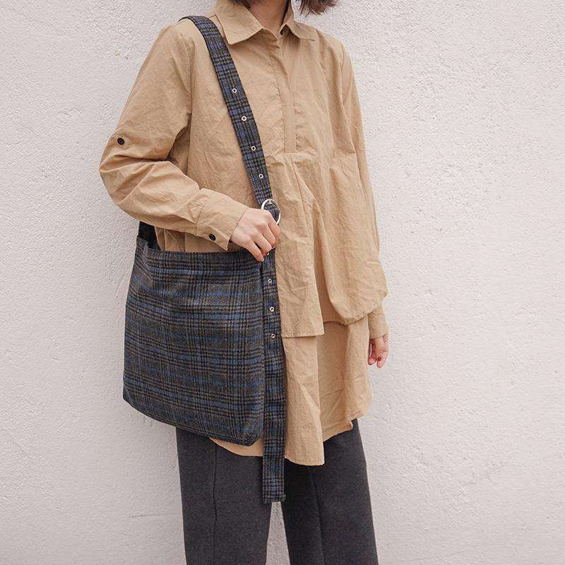 Vintage Plaid Tote Bag