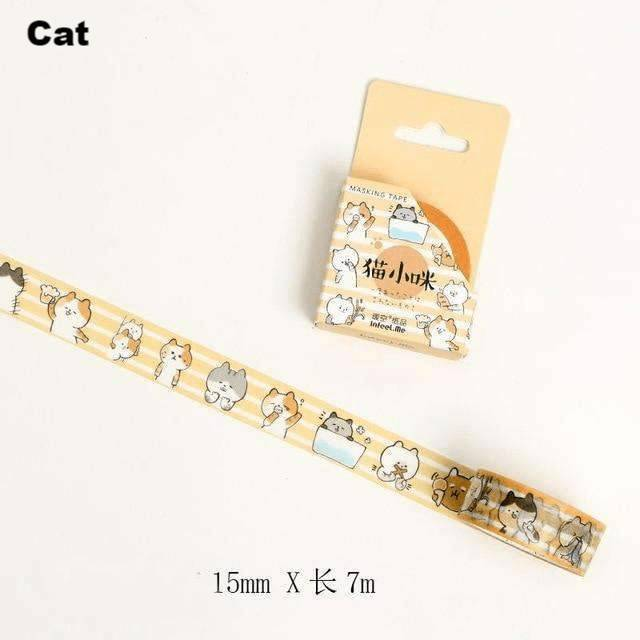 Cute Kawaii Animals Washi Tape