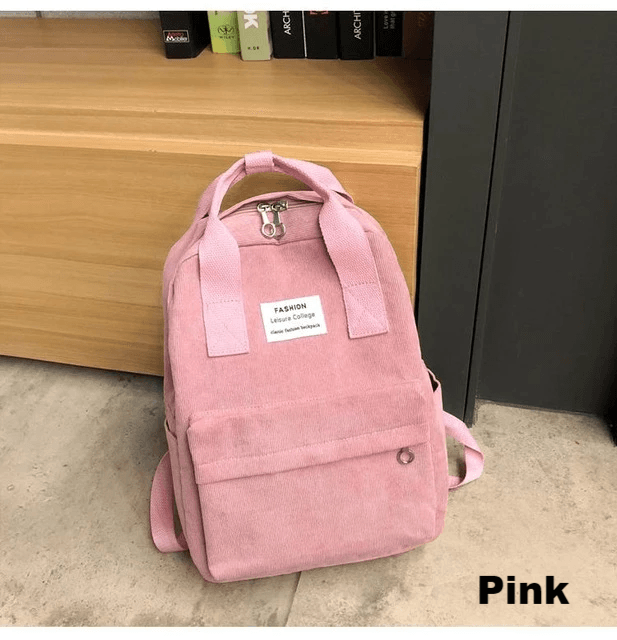 Lila Soft Cord Backpack