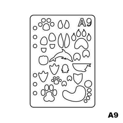 Assorted Plastic Drawing Design Stencils