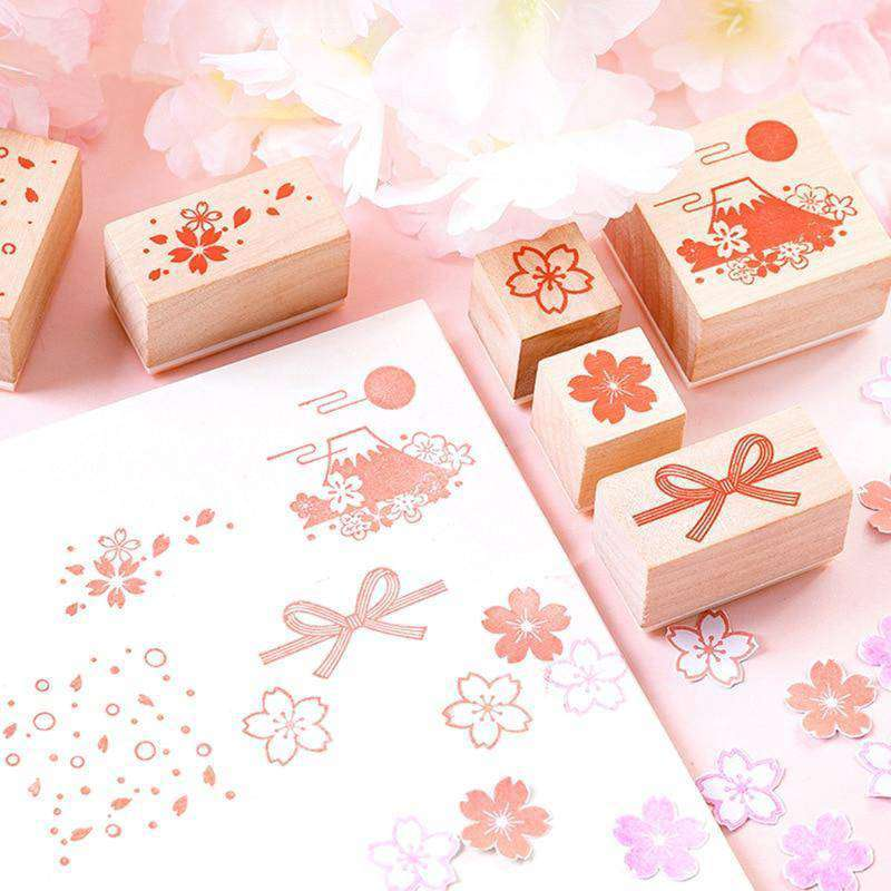 Cherry Blossom in Japan Stamps