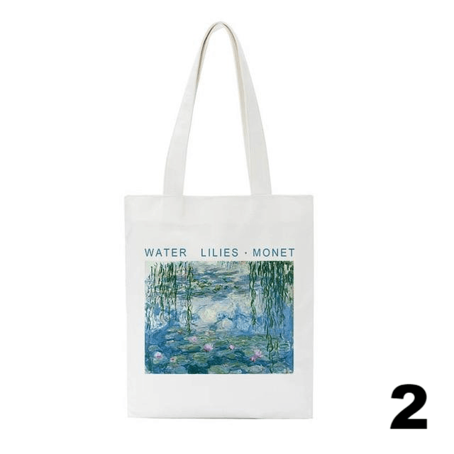 Watercolor Lilies Canvas Tote