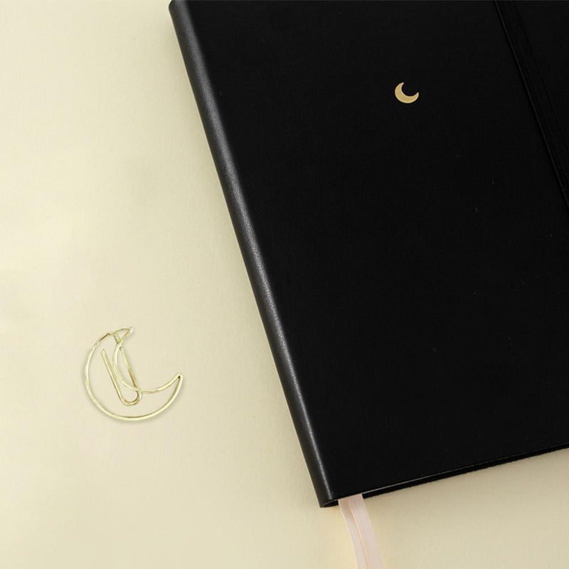 free gift gold moonflower paperclip