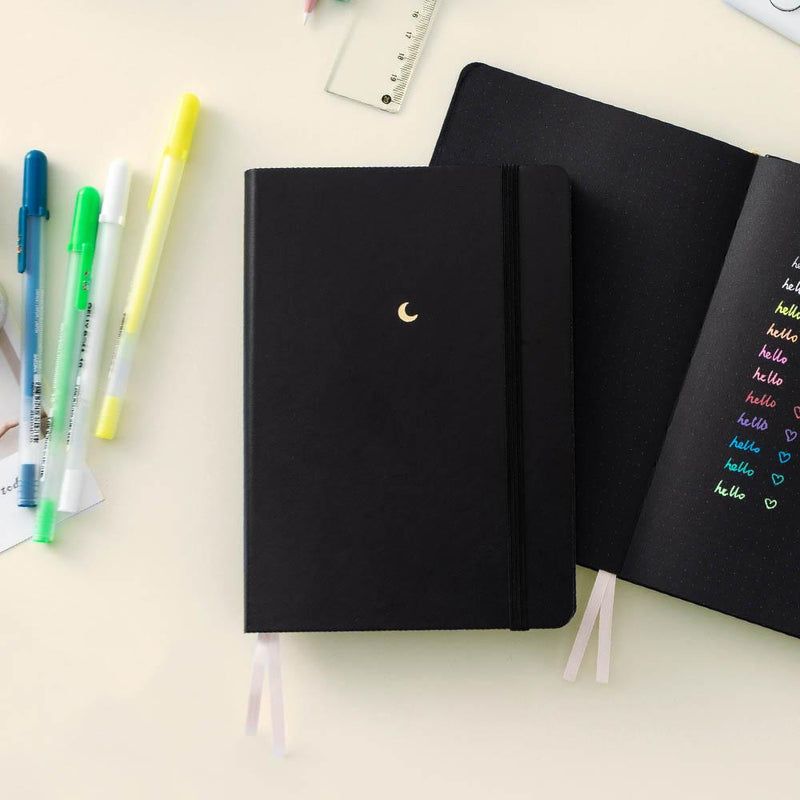Tsuki 'Midnight Edition' Black Page Bullet Journal ☾