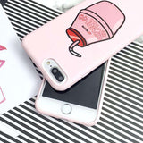 Korean Cartoon Drinks iPhone Case
